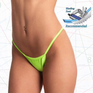 Sewing pattern for wide front low rise thong