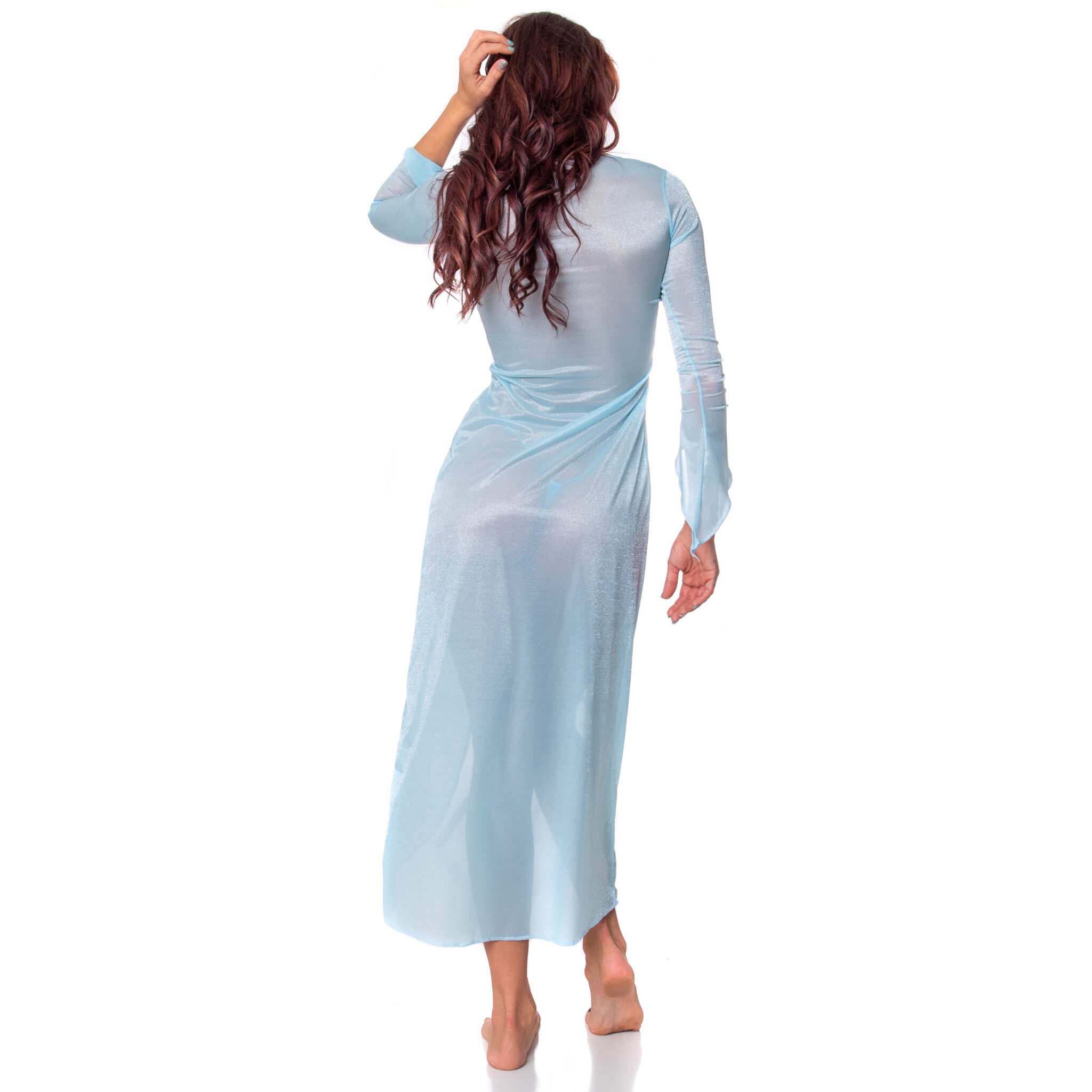 Tie Robe With Wizard Sleeves Back View