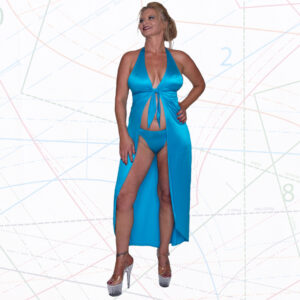 Long tie front halter robe sewing pattern