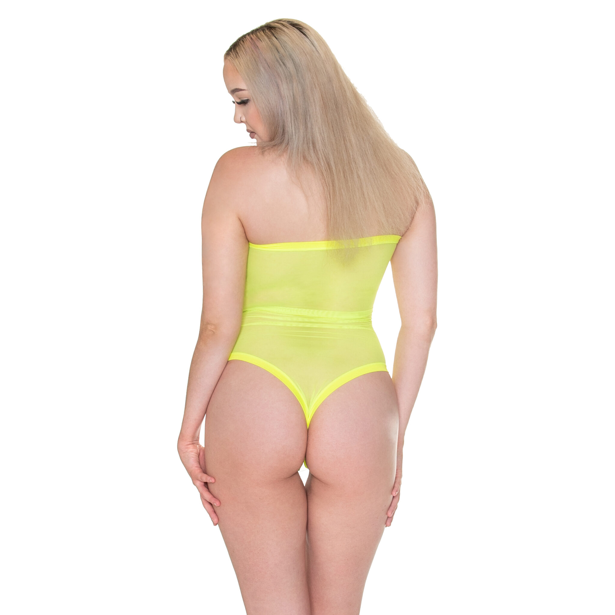 Mesh Bodysuit Sewing Pattern Back View