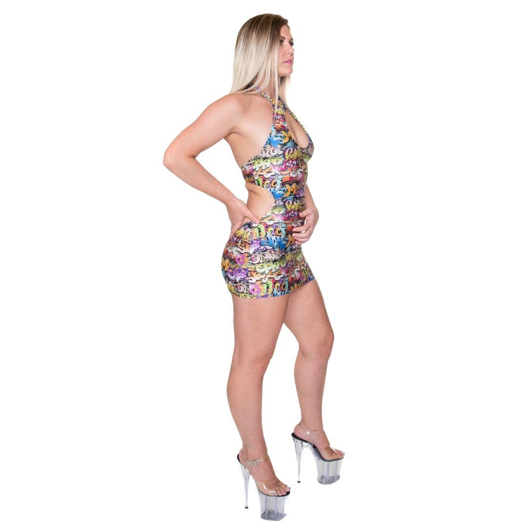 Keyhole Mini Dress with Open Back Sewing Pattern