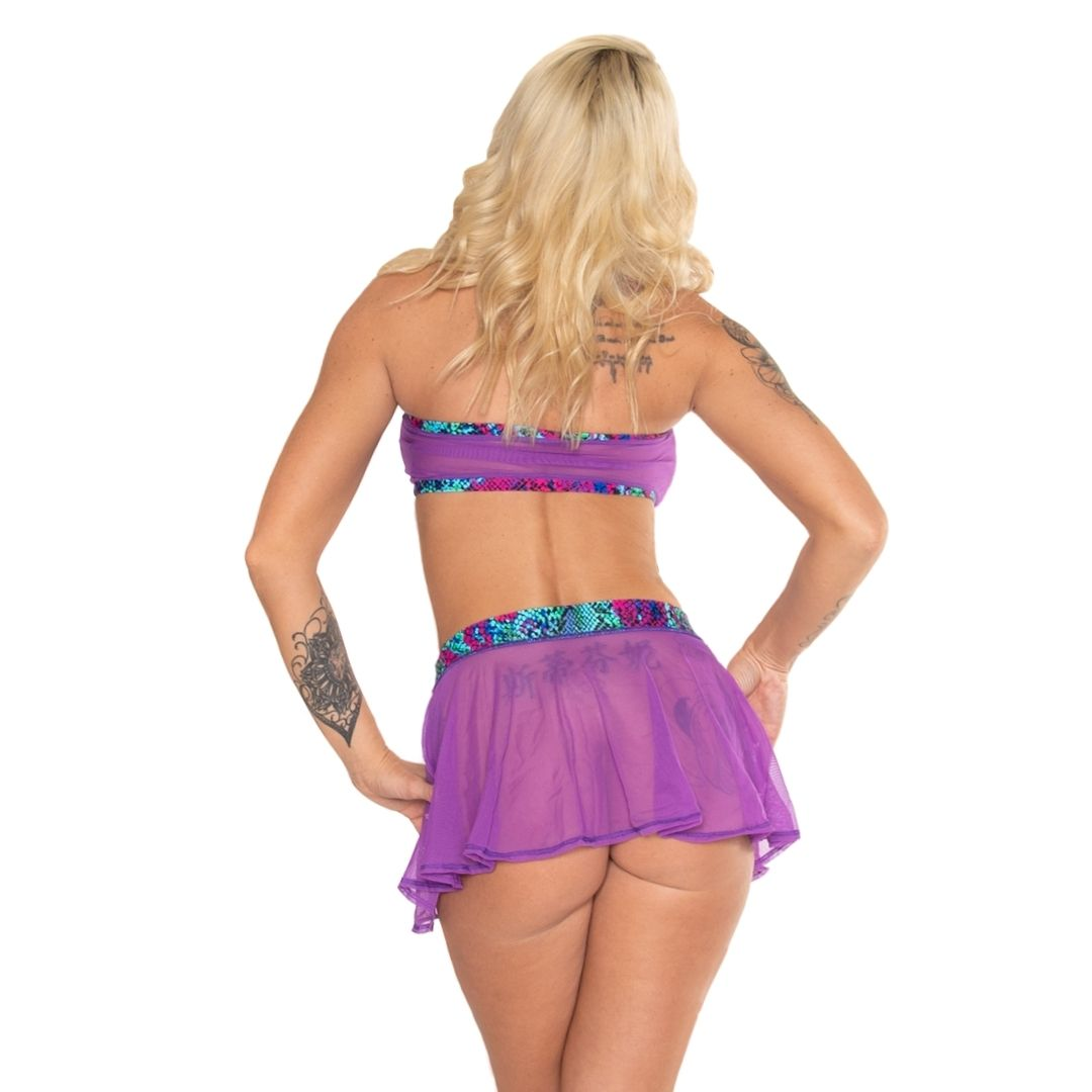 Mesh Cheeky Circle Skirt